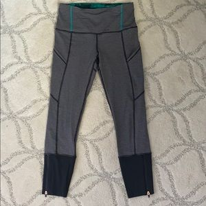 Striped Cropped Lululemon Leggings